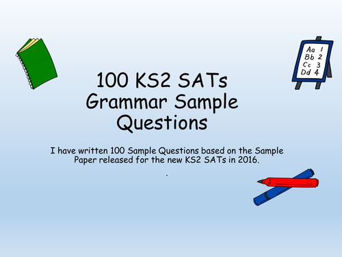 Over 100 Year 6 SATS Challenges English Grammar Question Starters and  Answers (New Curriculum)