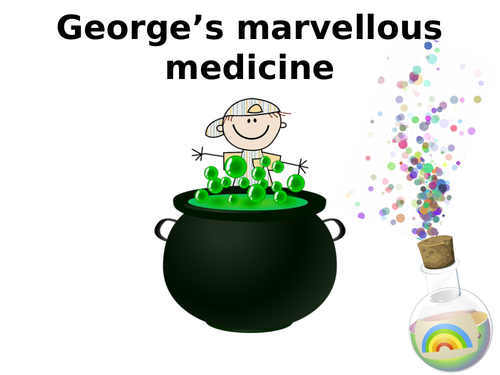 George S Marvellous Medicine Display Lettering