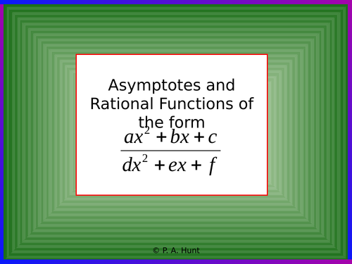 More Asymptotes and Rational Functions (A-Level Further Maths)
