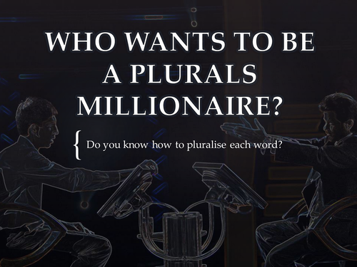 KS2 KS3 PUNCTUATION Plurals Starter - Who Wants To Be A Millionaire? - Competitive, Fun