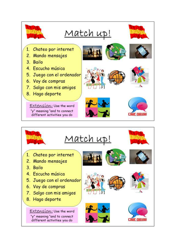 spanish free time activities ks3 by laurenfs teaching resources. Black Bedroom Furniture Sets. Home Design Ideas