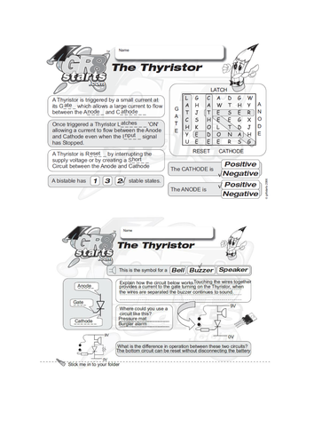 Lesson Starters for Electronics and Systems and Control - The Thyristor