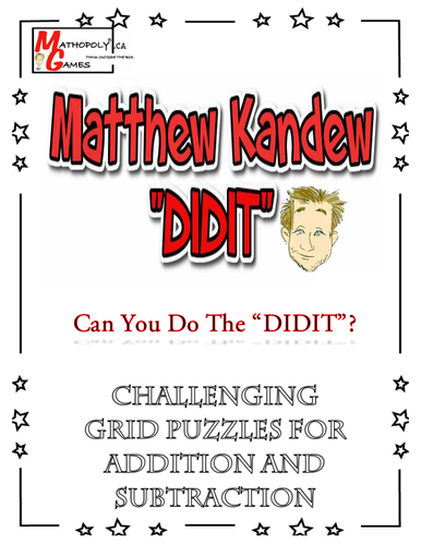 """""""DIDIT"""" - Math Puzzle for Addition and Subtraction"""