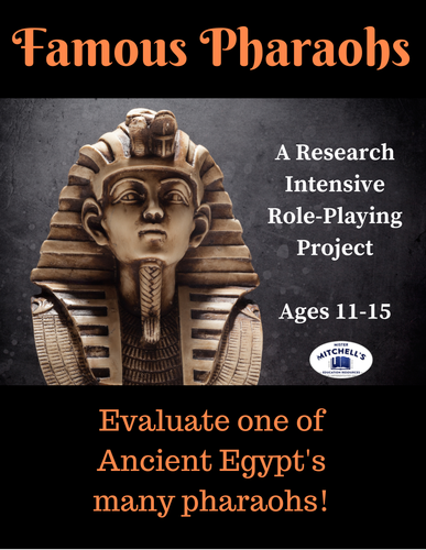 Ancient Civilizations - Egypt - Famous Pharaohs Research Project with Rubric