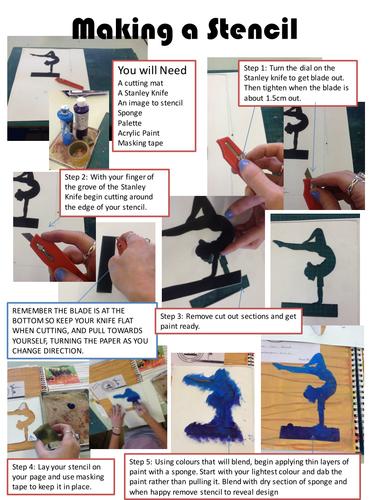 Making a stencil helpsheet