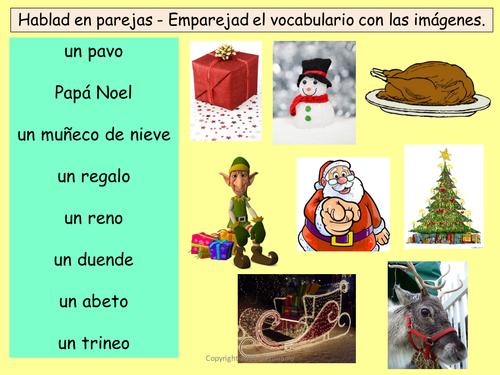 Navidad - Spanish Christmas vocabulary, worksheet, games and ...
