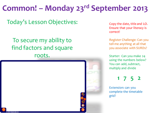 Standard Form to Surds, 15 Full lesson Powerpoints progressing from Grade F to A