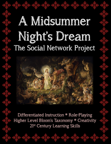 A Midsummer Night's Dream Social Network Project (Character Analysis)