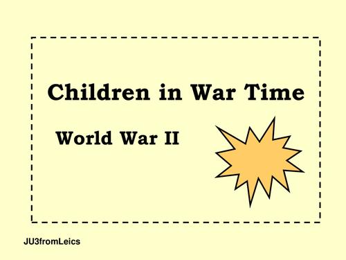 World War 2 . Children in wartime Britain