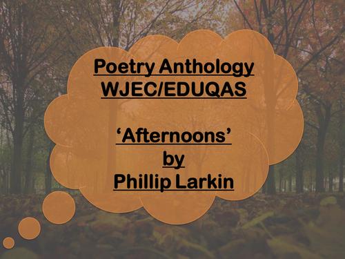 Mini Poetry Scheme: Afternoons by Philip Larkin - WJEC/Eduqas