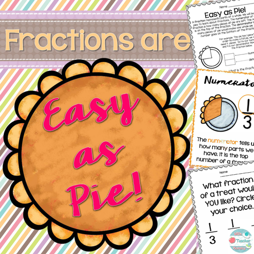 Thanksgiving Fractions Pie Worksheets, Pi Day! Fraction Worksheets & Activities
