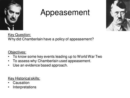 did chamberlain appease hitler essay