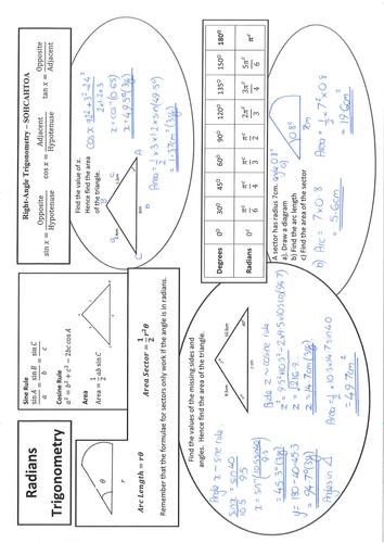 C2 - Radians and Trigonometry Worksheet