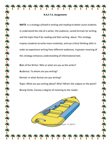Informative/ Explanatory Writing (RAFTS)
