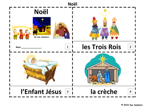 French Christmas 2 Emergent Readers