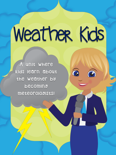 Weather Unit. Meteorologist Journal. Math, ELA and creativity integrated!