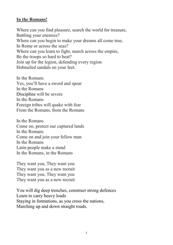 """Roman Assembly -  """"In the Romans"""" Song"""