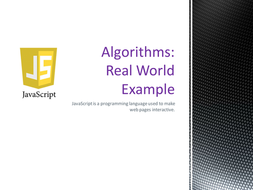 Algorithms in the Real World - A JavaScript Example