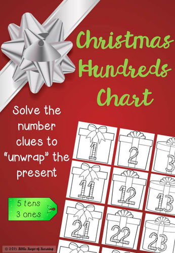 Unwrap the Presents: Christmas Hundreds Chart