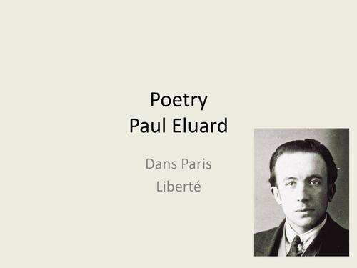 Dans Paris and Liberte Poems by Paul Eluard