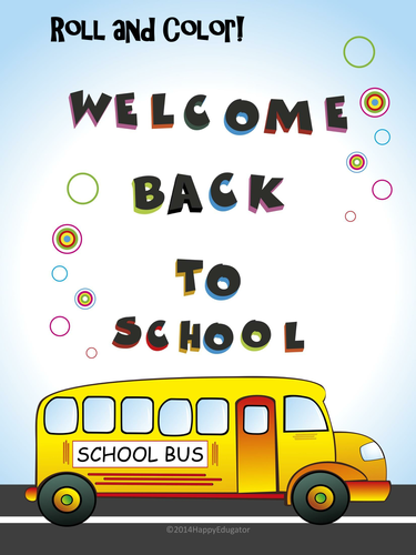 Back to School - Roll and Color