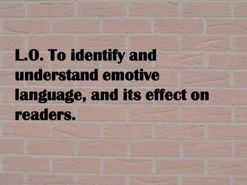 KS3 / KS4 Emotive Language and its Impact - Complete Lesson & Reading Assessment