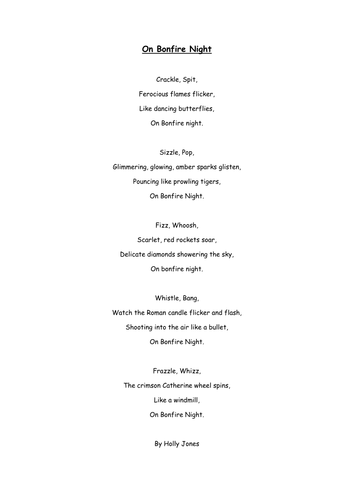 firework poem bonfire night by burton89 teaching resources tes. Black Bedroom Furniture Sets. Home Design Ideas
