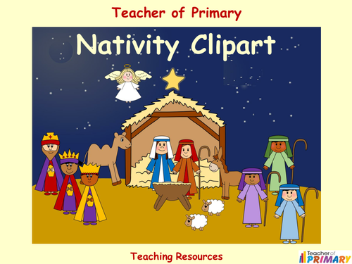 Nativity Clipart (18 high resolution images) by Teacher-of ...