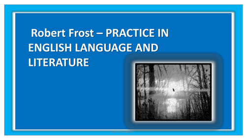 Robert Frost- poetry and analysis