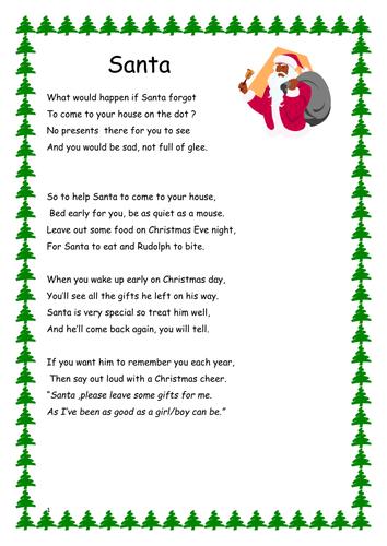 Santa Poem