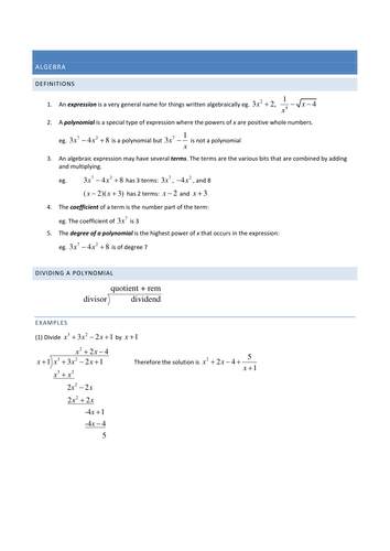 A2 Full Teaching Notes for Pure and Statistics