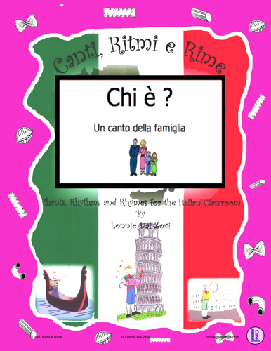 Italian Family Words (Che è ?) with the Italian  Rap-like Chant & MP3 and More