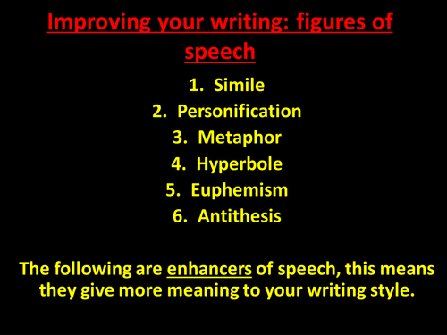 Improving Your Writing: Figures of Speech