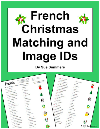 french christmas matching quiz or worksheet 31 words by suesummersshop teaching resources tes. Black Bedroom Furniture Sets. Home Design Ideas