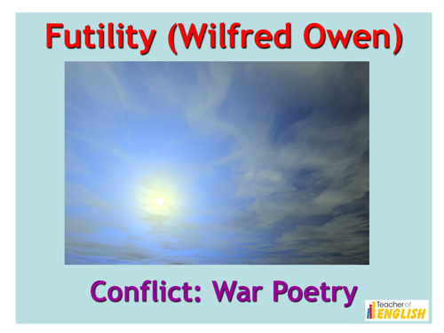 futility poetry and owen
