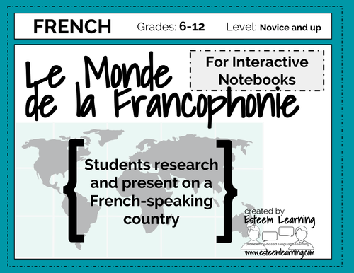 Country Research Activity - French - La Francophonie