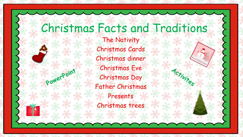 English Christmas History and Traditions Activities(PPT and activities)