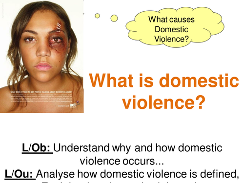 AQA SCLY1- Domestic violence lesson intro for AS Sociology Family unit