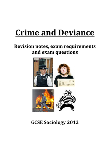 GCSE Sociology AQA Crime and Deviance Revision Guide