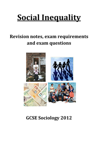 GCSE Sociology AQA Social Inequality revision guide
