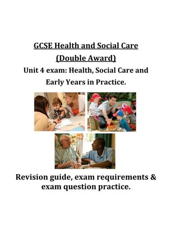 GCSE Health & Social Care EdExcel Unit 4 revision guide