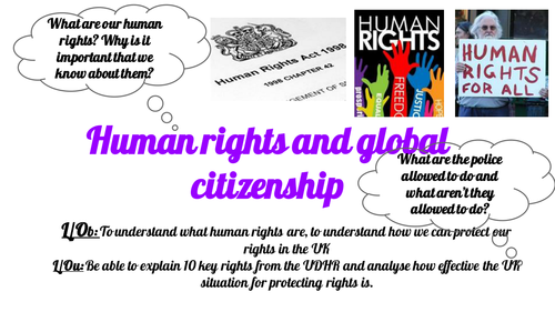 Post 16 PSHCEE Human rights and Global Citizenship