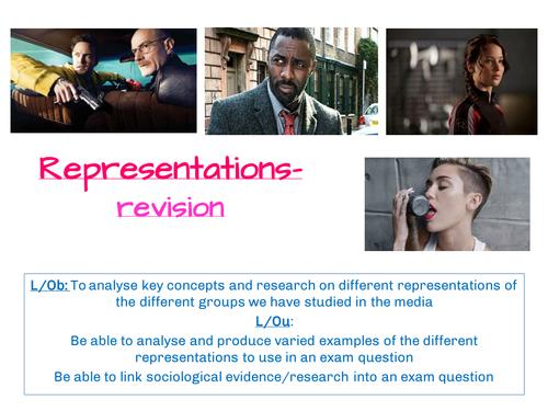 A2 Sociology- AQA SCLY3- Media- Representations revision lesson