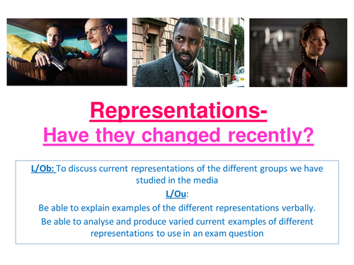 A2 Sociology- AQA SCLY3- Media- Have representations changed recently? Summary lesson end of unit