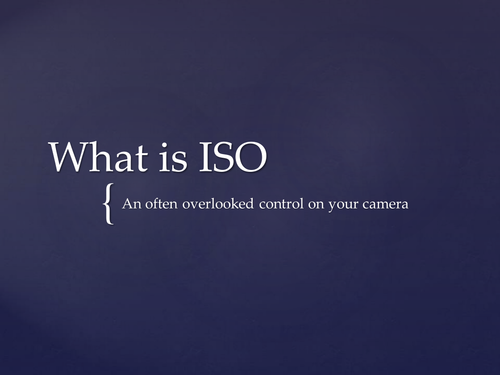 Understanding ISO for GCSE and A Level Photography