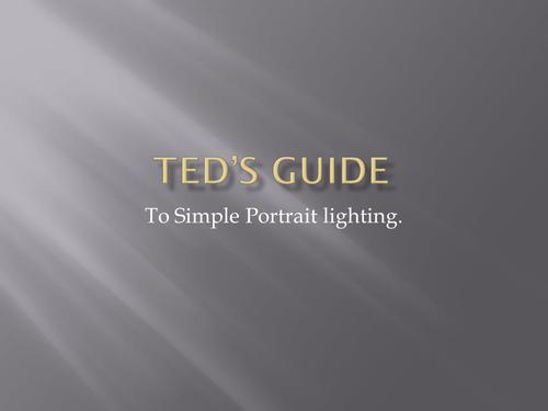 Simple Portrait lighting for GCSE photography