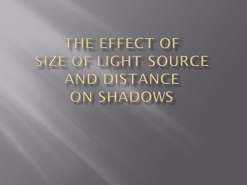 Size and Distance of light sources in Photography