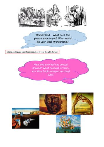 Alice in Wonderland - World Book Day - Creative Writing