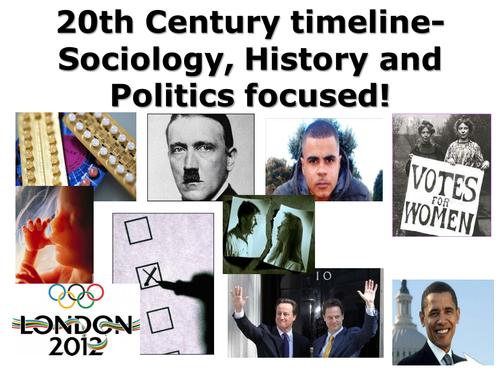 Timeline of the Twentieth Century- Sociology, Politics, History focused