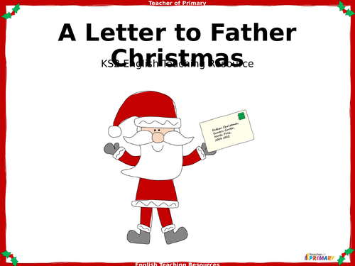 Writing a Letter to Father Christmas PowerPoint and worksheets
